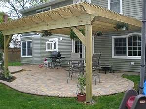 Diy Pergola Attached To House - Image Mag