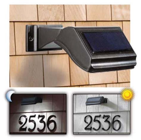 solar light for address signs house numbers