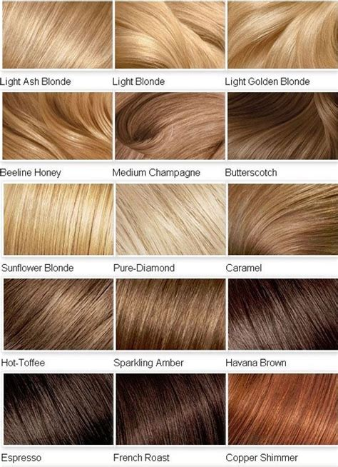 Hair Color Shades Of Chart by Barve Naravni Toni Za Predstavo Kratko Srednje
