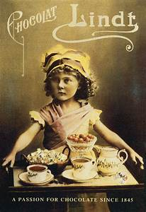 Vintage Lindt poster | COFFEE AND CHOCOLATE, TWO OF MY ...