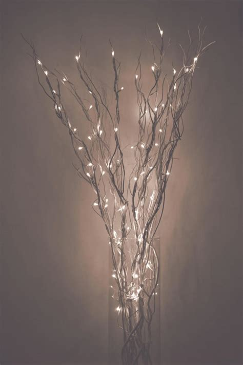 led lighted curly willow branches silver gold pearl