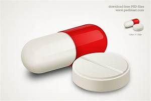 Capsule and White Pill Medicine Icon, vector images ...
