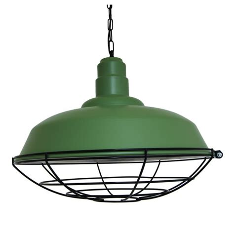 foldable bar green industrial cage pendant light