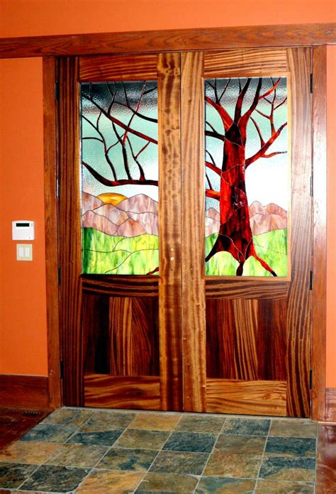 stained glass interior doors inspiration  design
