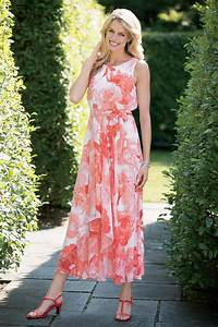 sleeveless cascading chiffon dress chadwicks of boston With chadwicks dresses for weddings