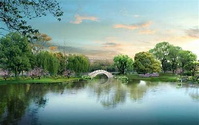 China Background Wallpapers Desktop Landscape Screen Pretty