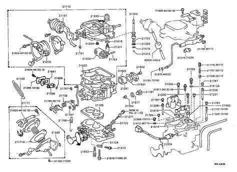 toyota hiluxyn67r mdpn tool engine fuel carburetor