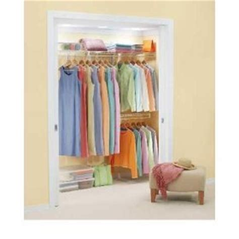Fast Track Closet System by Rubbermaid 3d0700wht Fast Track Closet Kit 2