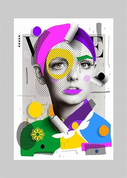 Collage Hosgor Cheek Graphic Magazine Magazines Selman
