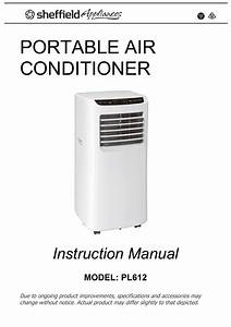 Sheffield Pl612 Portable Air Conditioner Instruction