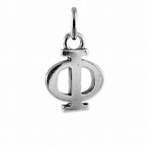 Sterling silver phi greek alphabet charm thecharmworkscom for Greek letter charms
