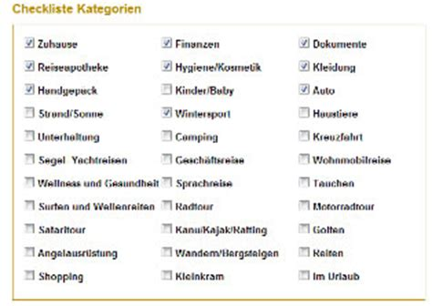 Urlaubs Checkliste Daran Sollten Sie Vor Der Reise Denken by Checkliste Urlaub Packliste Fuer Die Ferien Bei