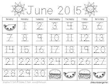 calendar templates freebie updated kindergarten