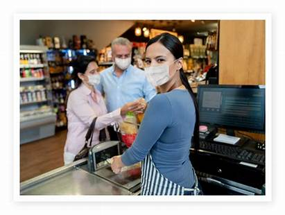 Grocery Gloves Wear Pandemic During Shopping While