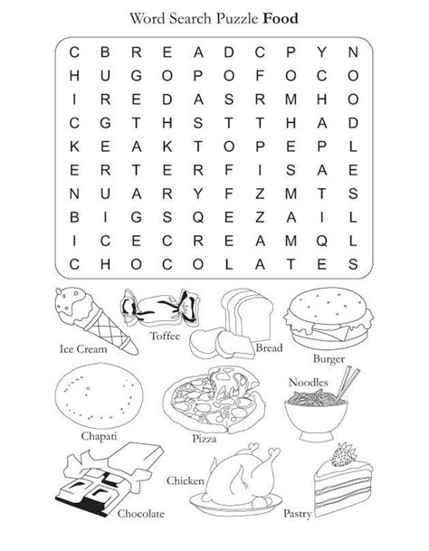 puzzle cuisine food vocabulary words word search puzzle worksheet worksheets food