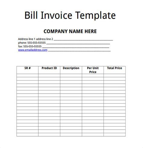 billing invoice templates   samples