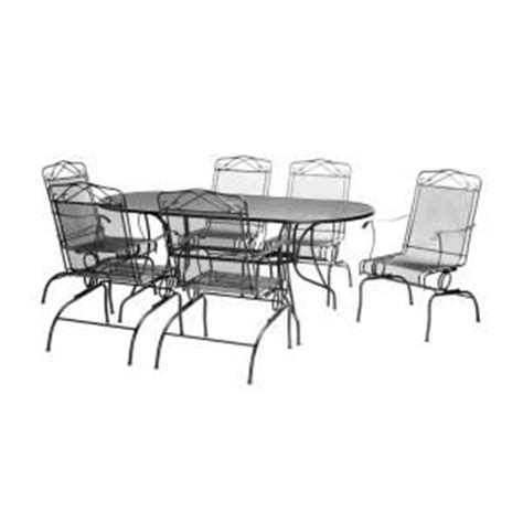 black wrought iron 7 patio dining set w3929