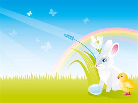 spring rabbit  powerpoint templates animals