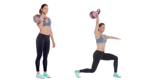 kettlebell bell kettle lunge press leg swing workout exercises drive overhead lunges fitness legs does benefits quick weight arms alternating