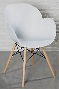 Weiße Stühle Mit Armlehne : moderner designstuhl wei kunststoff esszimmerstuhl stuhl wohnzimmerstuhl retro holz ~ Bigdaddyawards.com Haus und Dekorationen