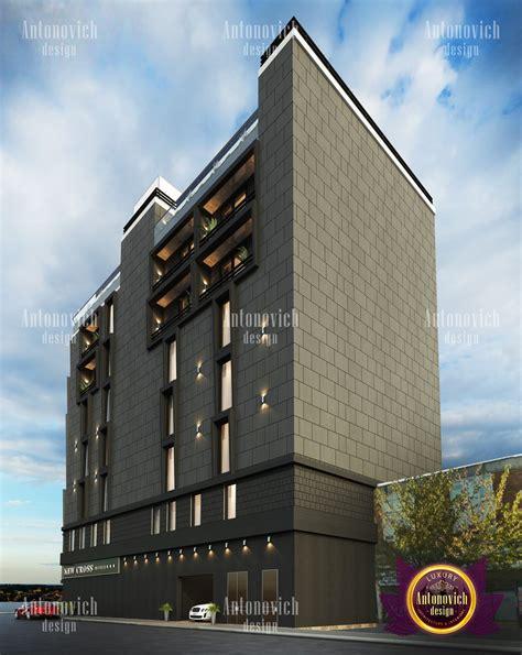 modern hotel facade in dubai