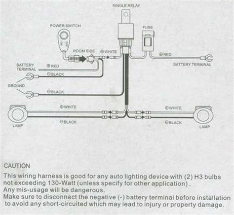 Fog Light Kit Wiring Diagram by Universal Fog Light Wiring Kit