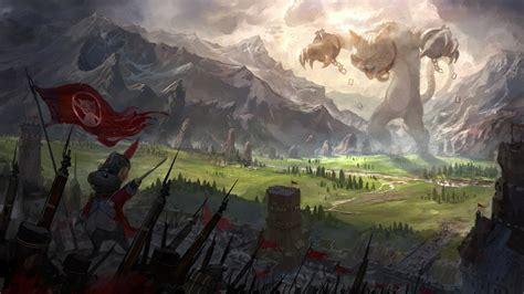 War Anime Wallpaper - cat war anime landscape mountain mice