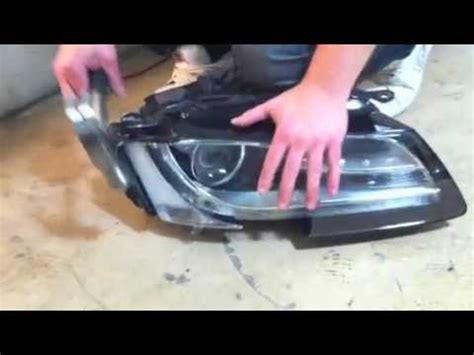 diy how to dismantle audi a5 headlight