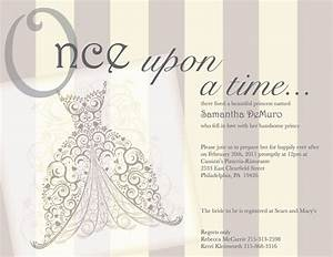 Once upon a time fairy tale vintage bridal shower for Fairytale wedding shower invitations