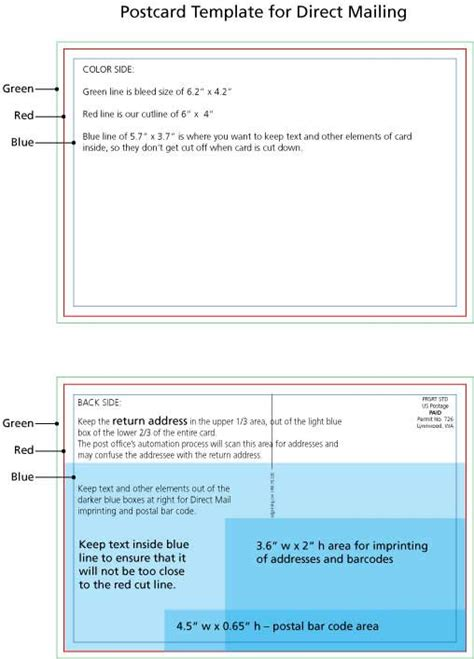 direct mail templates postcard template usps