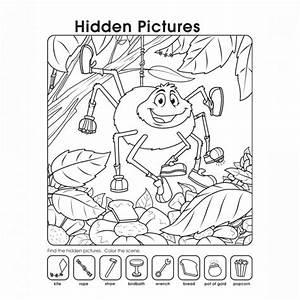 Hidden Picture Worksheet for Middle School   Kiddo Shelter