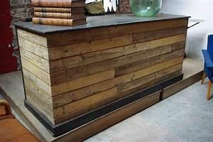 Bar Exterieur En Bois : comptoir de commerce en bois par le marchand d 39 oublis ~ Premium-room.com Idées de Décoration