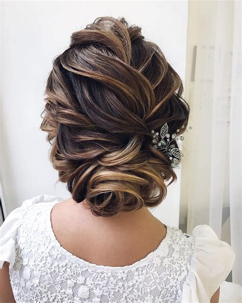 Textured wedding updo hairstyle messy updo wedding