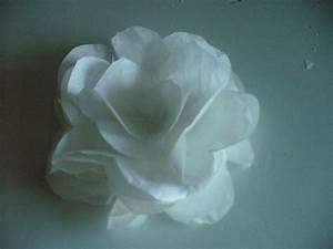 Fleur En Papier De Soie : tuto fleur papier de soie scrap eco ~ Nature-et-papiers.com Idées de Décoration