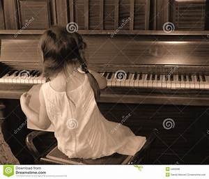 Girl playing piano stock photo. Image of seated, upright ...