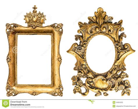 cadre de tableau d or de style baroque d isolement sur le fond blanc photo stock image 54804252