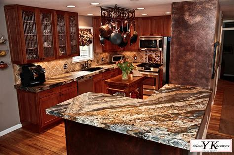 magma gold granite leathered for the home