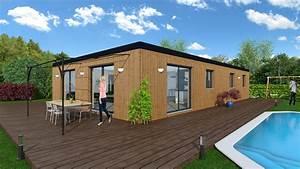 Maison bioclimatique Sycomore NORDI BOIS Construction maisons madrier et ossature bois