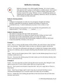 Go Through Your Resume Sle Answer by Uncategorized Active Listening Skills Worksheets
