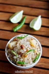 sabudana khichdi recipe, maharashtrian style sabudana ...