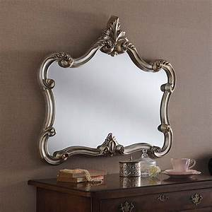 Antique, French, Style, Silver, Ornate, Wall, Mirror