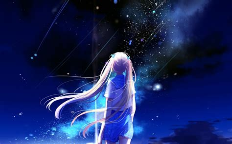 Anime Illustration Wallpaper - bc64 anime space illustration wallpaper