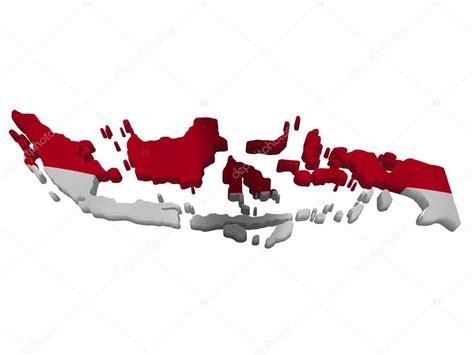 flagge und karte von indonesien stockfoto  savup