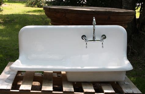 enamel kitchen sink with drainboard 1920 s cast iron porcelain drainboard farmhouse sink 42