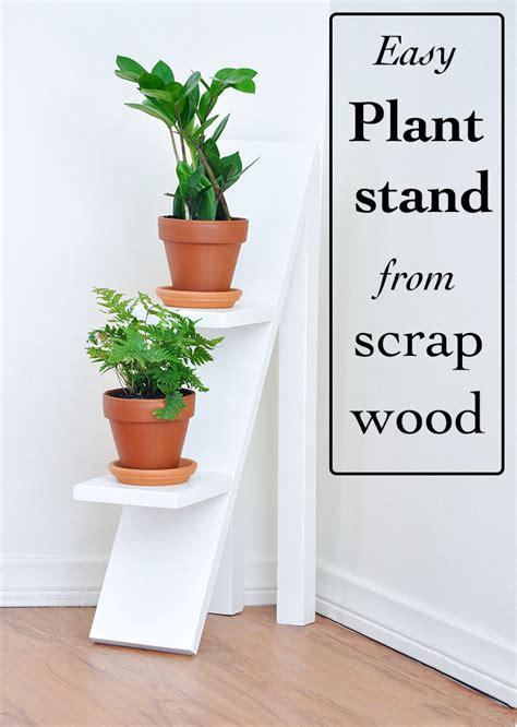 tiered plant stand  scrap wood pretty handy girl
