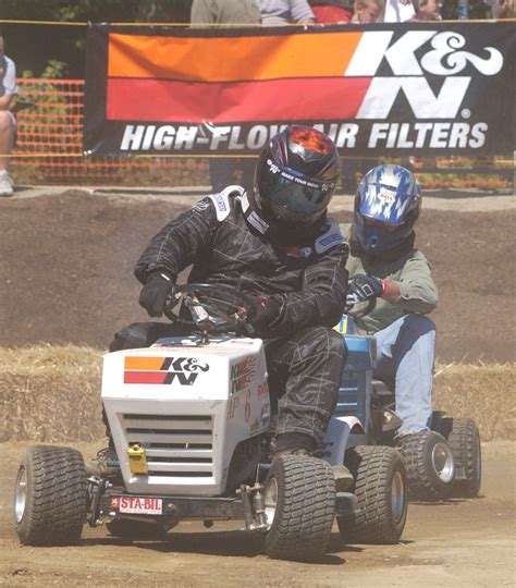 lawn mower racing   day  spring