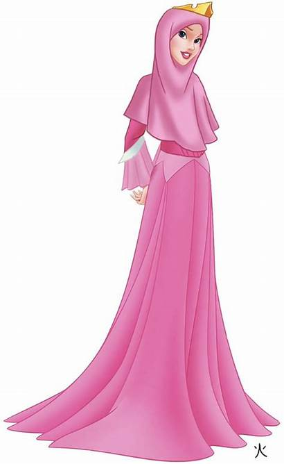 Disney Princess Hijab Muslim Aurora Princesses Anime