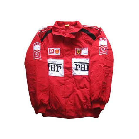 Both jackets offer a closer fit than the standard bike jacket and are closely based on the. Ferrari-F1-Jacket-Red-and-White-Trim - nascarracingappeal
