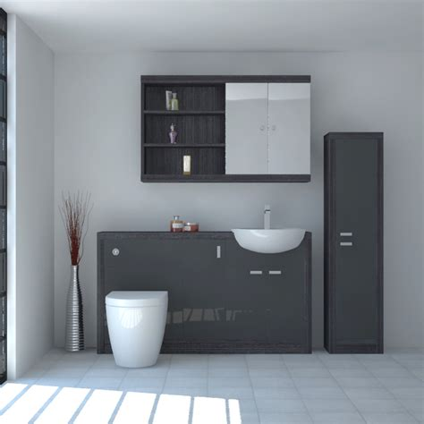 bathroom extractor fans hacienda 1500 fitted furniture pack grey buy at
