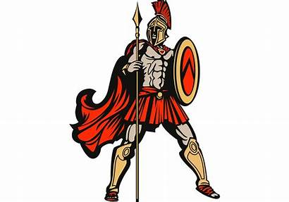 Spartan Spear Shield Vector Greek Ancient Roman